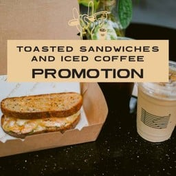 [PROMOTION] New! Toast Sandwich Fish & Cheese w Iced Coffee