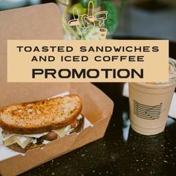 [PROMOTION] New! Toast Roasted Mushroom Sandwich & Iced Coffee