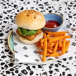 เบอร์เกอร์เต้าหู้มังสวิรัติ