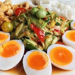 ตำแตงต้มไข่ยางมะตูม