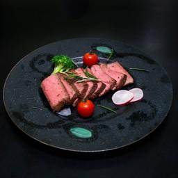 Lamb Thigh Rare Steak