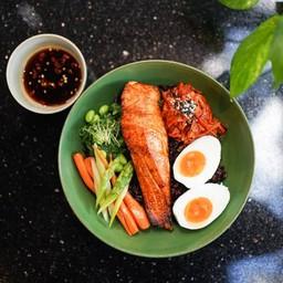 Salmon Yakitori Rice Bowl