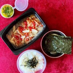 Salmon Salmon. เเซลมอนดองซีอิ๊วเกาหลี.