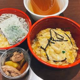 OYAKODON Set meal (Soba) ชุดข้าวหน้าไก่และไข่(โซบะ)