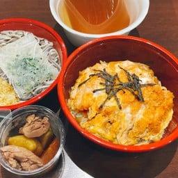 KATSUDON Set meal (Soba) ชุดข้าวหน้าหมูชุบแป้งทอด(โซบะ)