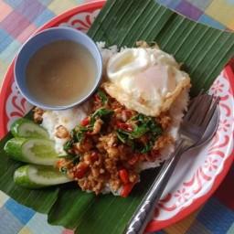 ร้านเจ๊บุ๋มกระเพราถาดยักษ์(เจ้าแรกในไทย) กรุงเทพมหานคร