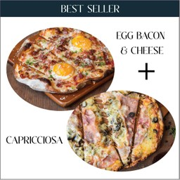 Best Selller Set  - Egg Bacon & Cheese+ Capricciosa