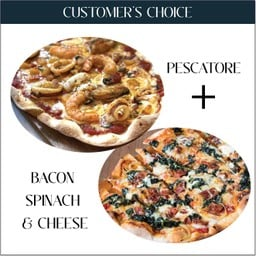 Customers choice Set - Bacon Spinach & Cheese + Pescatore