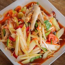 ส้มตำอาหารอีสาน คุณมาลี กาญจนบุรี