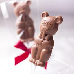Mr. Bear -Milk chocolate no sugar added lollipop