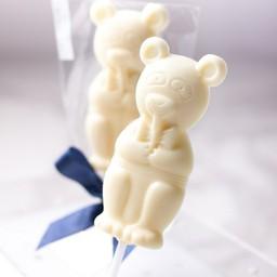 Mr. Bear -White chocolate no sugar added lollipop