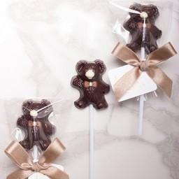 Teddy Bear- Dark chocolate lollipop
