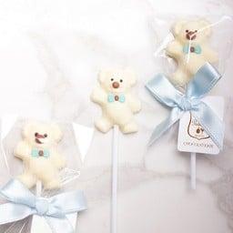 Teddy Bear- White chocolate lollipop