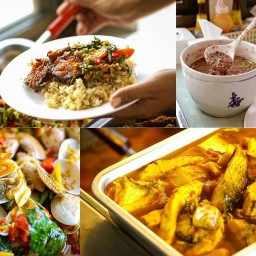 ไก่ทอดเกาหลี×ข้าวยำไก่แซ่บ
