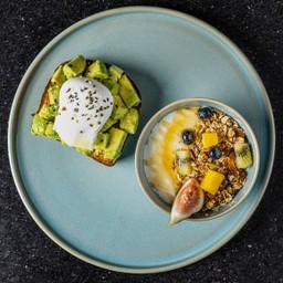 Yogurt with Avocado Toast