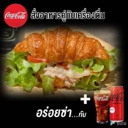 Tuna Croissant with Coke