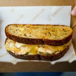 Fish and Cheese Sourdough Sandwich