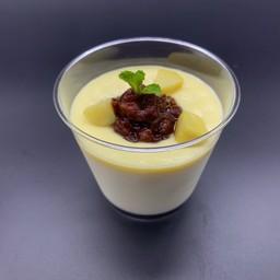 Ogura sweet potato cream pudding(小倉さつまいもクリームプリン)