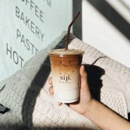 The sip coffee