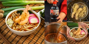 """วิธีทำ """"เทมปุระอุด้ง"""" เมนูอาหารญี่ปุ่นรสกลมกล่อม ทำง่าย ซดคล่องคอ!"""