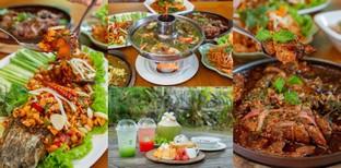 """[รีวิว] """"ฮ่มไม้ปลายนา"""" แพร่ ร้านอาหารไทยบรรยากาศร่มรื่น นั่งชิลชมทุ่ง"""