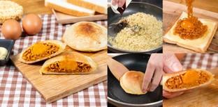 """วิธีทำ """"แซนด์วิชกรอบบะหมี่เผ็ด"""" เมนูขนมปังจุก ๆ ต่อชีวิตช่วงสิ้นเดือน"""