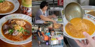 """[รีวิว] """"ขนมจีนกาดก้อม"""" เชียงใหม่ ขนมจีนรสชาติคนเมืองในราคาสบายกระเป๋า"""