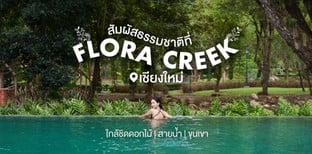 ใกล้ธรรมชาติ ภูเขา ดอกไม้ สายน้ำ Flora Creek ที่พักเชียงใหม่บรรยากาศดี