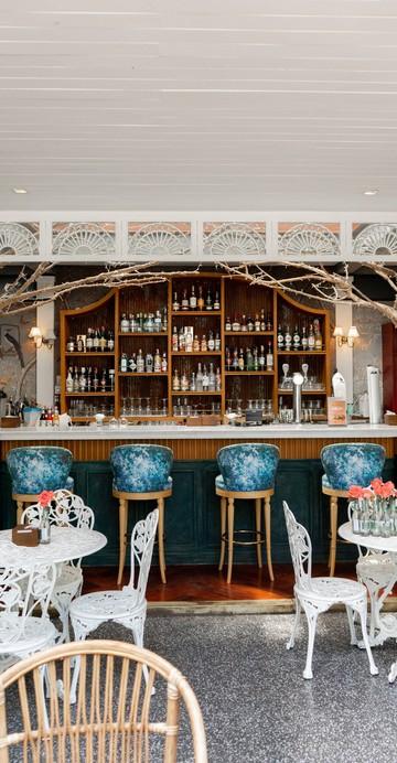 จินบาร์แห่งใหม่ในเครือ Buddy เครือที่ทำร้านอาหารและบาร์มากมายในข้าวสาร เด่นด้วยดีไซน์ของเรือนกระจกและต้นไม้เหมือนสวนพฤกษ์ศาสตร์