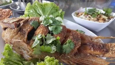 ปลาทับทิมราดน้ำปลา