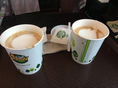 Café Amazon (คาเฟ่ อเมซอน) ปตท.แม่ลาว