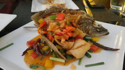 Deep Fried Fish With Sweet & Sour Sauces