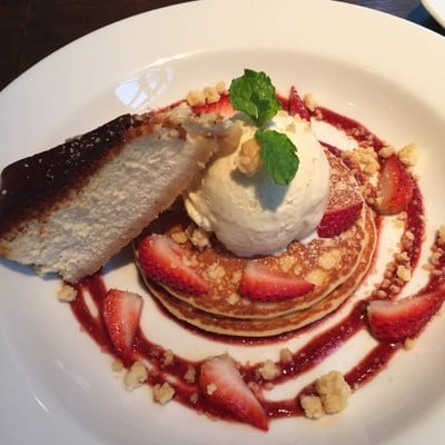 Buttermilk Pancake with Strawberry Sauce
