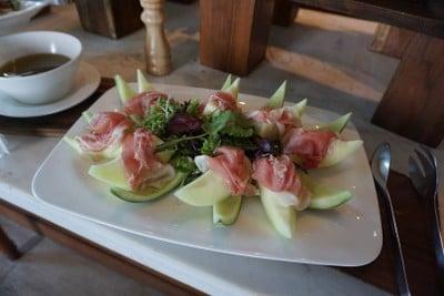 Parma ham On Melon