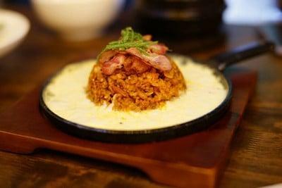 ข้าวผัดกิมจิ (ไข่กับชีส)