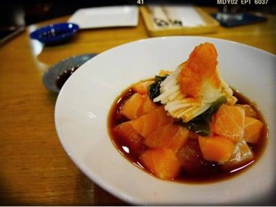Salmon Ponzu Mushroom Wakame (210฿+)