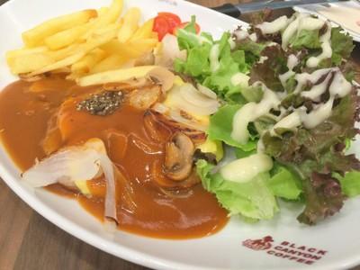 สเต็กเนื้อริบอายซอสพริกไทยดำ##1
