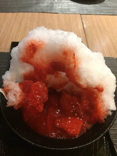 น้ำแข็งใสรสสตอเบอร์รี่