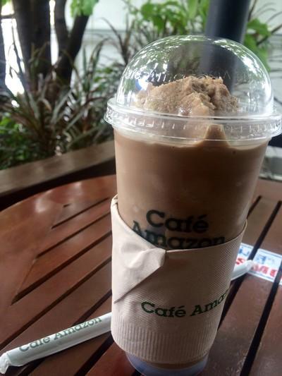 Cafe Amazon   ปั๊ม PTT บางโพงพาง