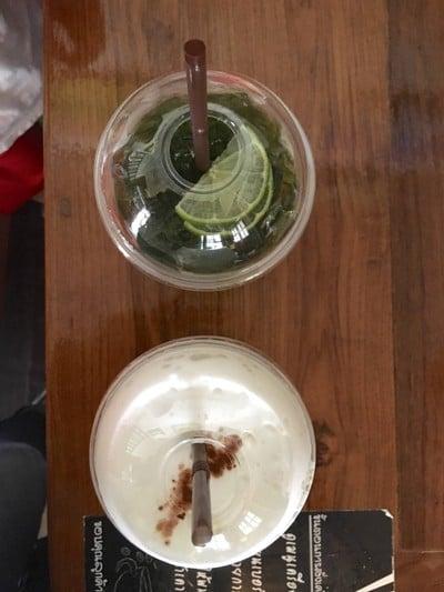 ชาเขียวมะนาว-คาปูชิโนเย็น
