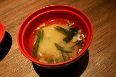 Miso soup .