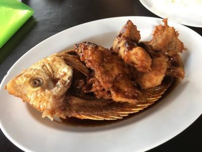 ปลาทับทิม ซอสมะขาม