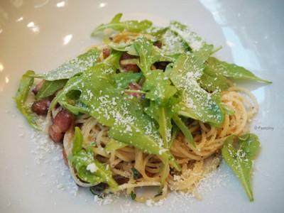 Spaghetti Olio Bacon .