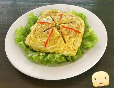 ข้าวเขียวหวานห่อไข่
