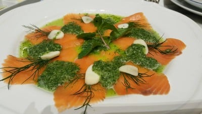 Salmon Sashimi With Spicy Hot Sauce