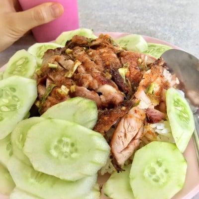ข้าวมันไก่ ไก่ย่าง ไก่ทอด ปลาทอด หอ5ชาย มช.