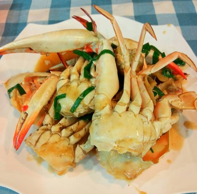 Fried Crab With Green Pepper And Black Beans