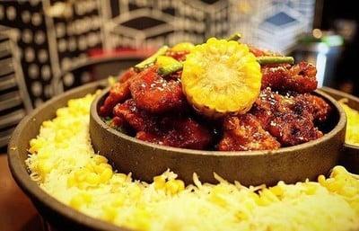 ไก่ทอดซอสเรดบลู+ไก่ทอดซอสเกาหลี