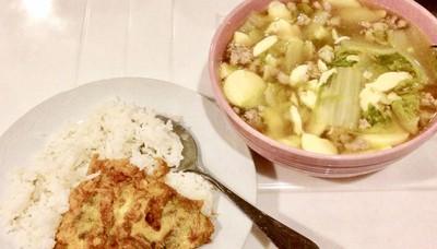 แกงจืดเต้าหู้-ข้าวไข่เจียว อาหารบ้านๆสุดอร่อย