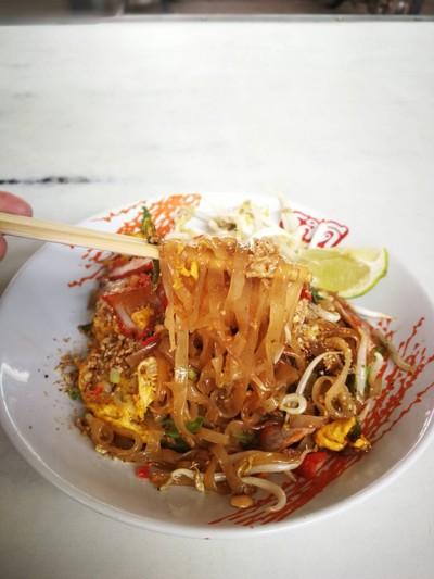 ผัดไทยโบราณสากเหล็ก